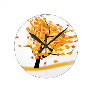 arbre de chute horloge ronde
