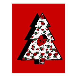 Arbre de coccinelle de Noël Carte Postale