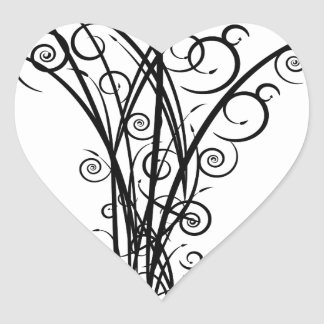 Arbre de flèche de remous sticker cœur