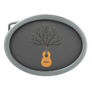 Arbre de guitare boucles de ceinture ovales