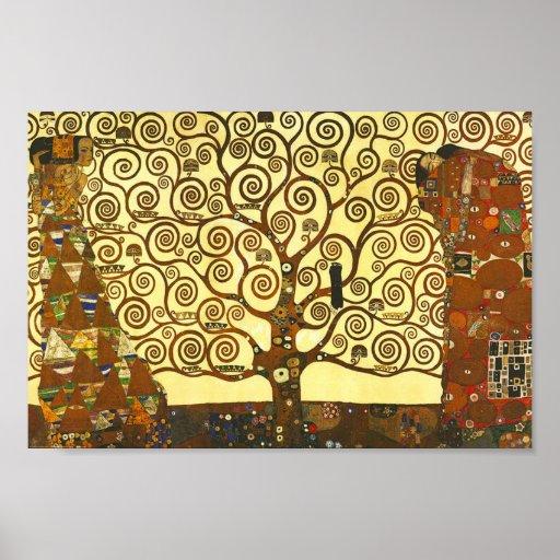 Arbre de Gustav Klimt d'affiche de la vie
