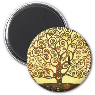 Arbre de Gustav Klimt d'aimant de la vie Magnet Rond 8 Cm