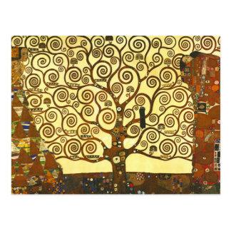 Arbre de Gustav Klimt de carte postale de la vie