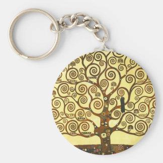 Arbre de Gustav Klimt de porte - clé de la vie Porte-clés