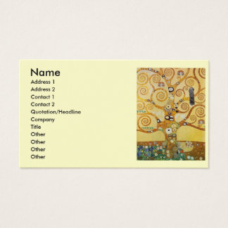 Arbre de Klimt de la vie Cartes De Visite