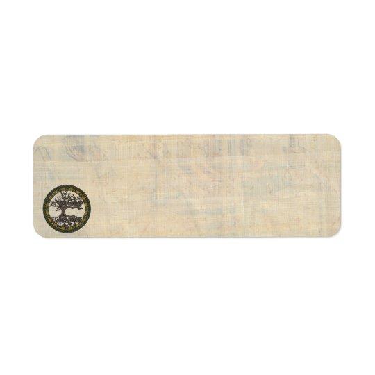 Arbre de la vie celtique [Yggdrasil] Étiquette D'adresse Retour