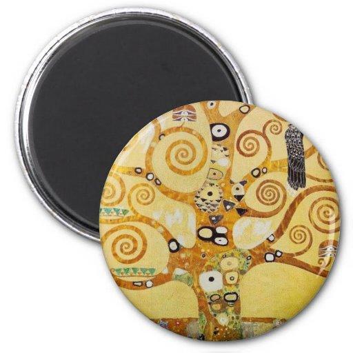 Arbre de la vie par Klimt Aimant Pour Réfrigérateur
