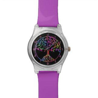 Arbre de la vie psychédélique montres bracelet