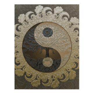 Arbre de la vie Yin Yang par Amelia Carrie Carte Postale