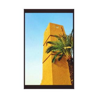 Arbre de minaret et de date toile