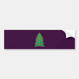 Arbre de Noël arbre de Noël christmas tree Adhésifs Pour Voiture
