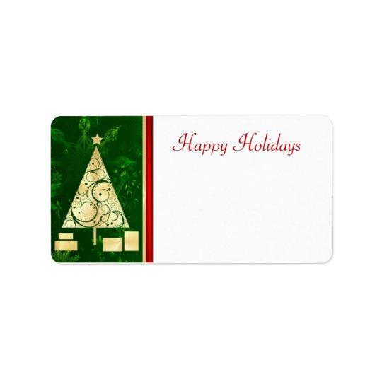 Arbre de Noël - bonnes fêtes étiquettes postales