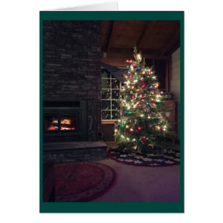 Arbre de Noël Carte De Vœux