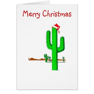 Arbre de Noël de cactus - carte de note