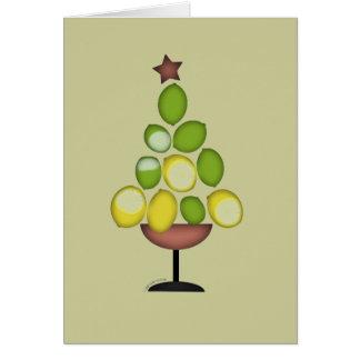 arbre de Noël de chaux de citron avec Carte De Vœux
