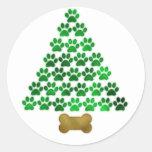 Arbre de Noël de chien/chat Adhésifs Ronds