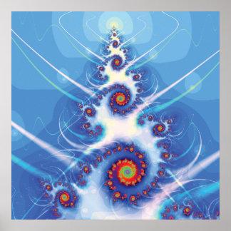 Arbre de Noël de fractale Posters