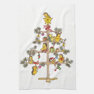 Arbre de Noël de hérisson Serviettes Éponge