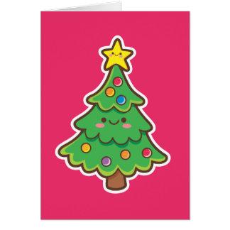 Arbre de Noël de Kawaii Cartes