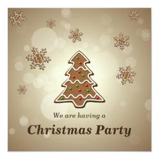 Arbre de Noël de pain d'épice - invitation de