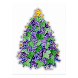 Arbre de Noël de raisins de cuve Cartes Postales