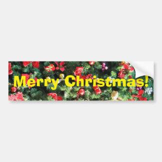 Arbre de Noël décoré Autocollant De Voiture