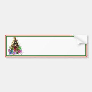 Arbre de Noël décoré avec des présents Autocollant Pour Voiture