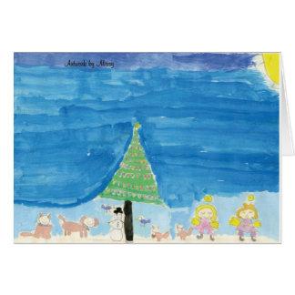 Arbre de Noël et carte de famille