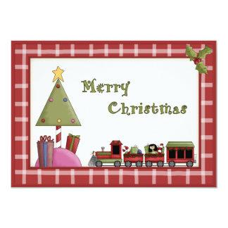 Arbre de Noël et invitation mignons de partie de
