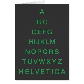 Arbre de Noël helvetica d'alphabet Cartes De Vœux