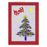 Arbre de Noël lunatique de Noel Fleur de Lis Carte De Vœux