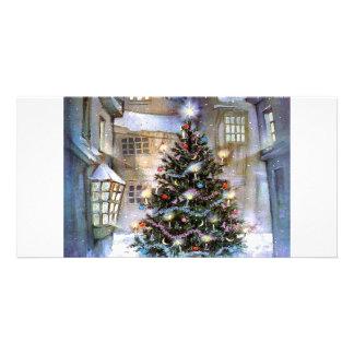 Arbre de Noël sur la rue Cartes De Vœux Avec Photo