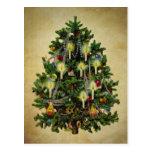 arbre de Noël vintage Cartes Postales