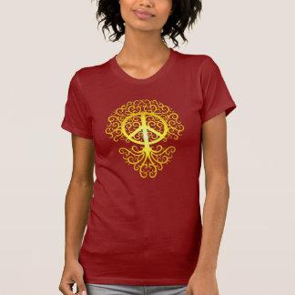 Arbre de paix, jaune t-shirts