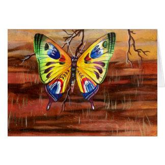 Arbre de papillon carte de vœux