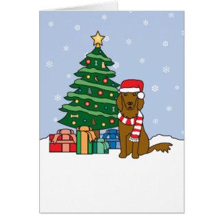 Arbre de poseur irlandais et de Noël Carte De Vœux