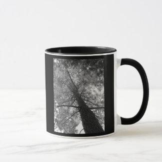 Arbre de séquoia noir et blanc mug