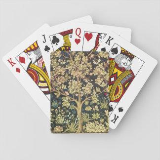 Arbre de William Morris de Pre-Raphaelite de cru Cartes À Jouer