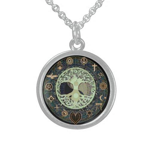 Arbre de yin yang de symbole de la vie collier argent sterling zazzle - Symbole de la vie ...