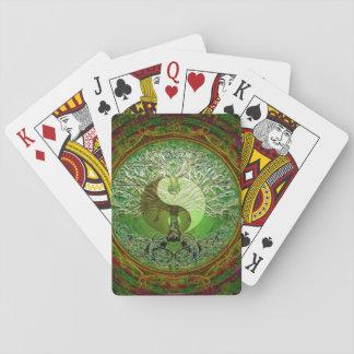 Arbre de Yin Yang de vert de la vie Cartes À Jouer