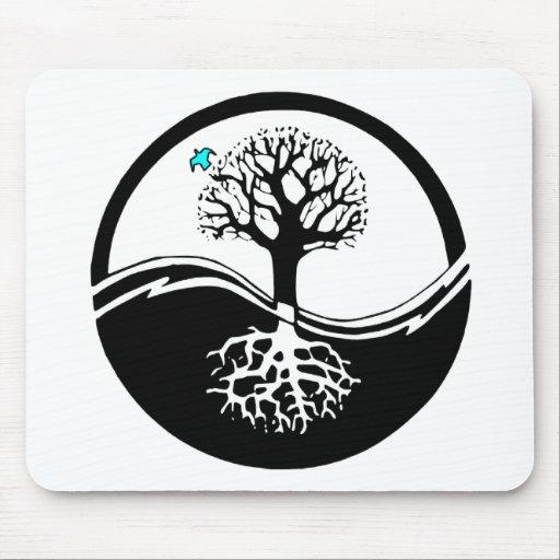 Arbre de yin yang tapis de souris zazzle for Surface minimum bureau code du travail