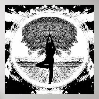 Arbre de yoga posters