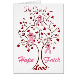 Arbre d'espoir, d'amour et de foi - carte