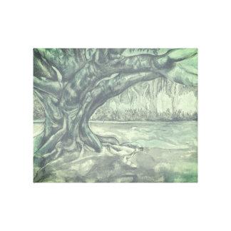 Arbre dessinant l'art original de mur toiles
