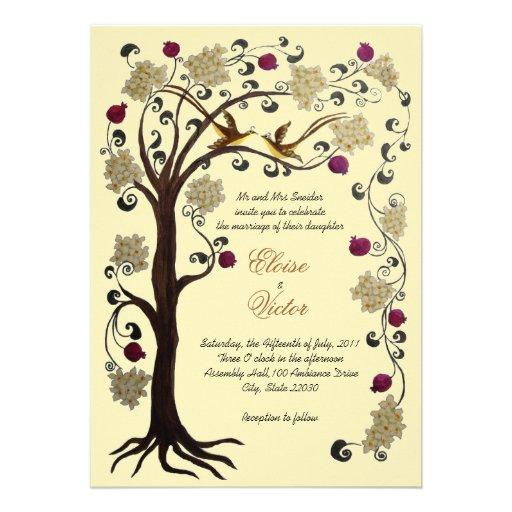 arbre du faire part de mariage de la vie v carton d. Black Bedroom Furniture Sets. Home Design Ideas