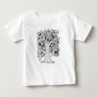 Arbre floral de forêt fantastique t-shirt pour bébé
