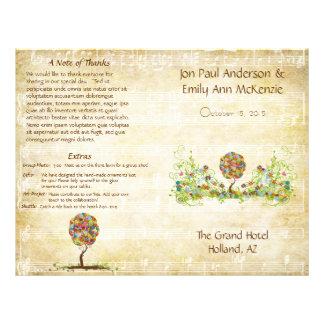 Arbre floral enchanté de conte de fées de prospectus 21,6 cm x 24,94 cm