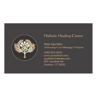Arbre fruitier d'or de santé et de santé modèles de cartes de visite