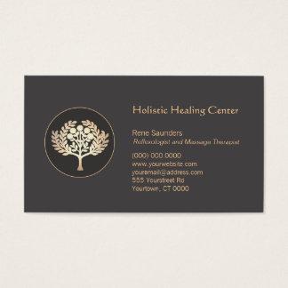 Arbre fruitier d'or de santé et de santé cartes de visite