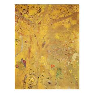 Arbre jaune par Odilon Redon Cartes Postales